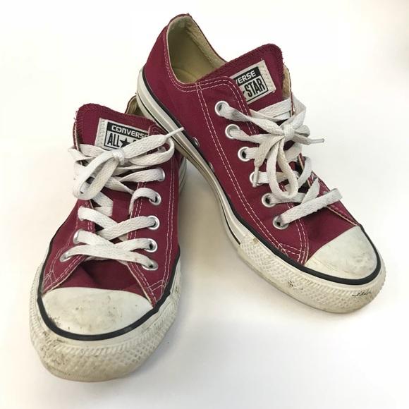 Star Womens 8 Sneakers Dark Deep Red